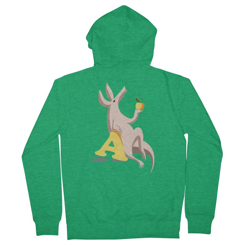 Aardvark and apple (To eat or not to eat) Men's Zip-Up Hoody by kouzza's Artist Shop
