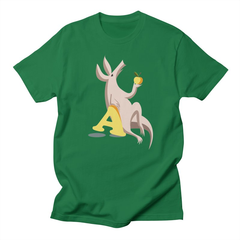Aardvark and apple (To eat or not to eat) Men's Regular T-Shirt by kouzza's Artist Shop