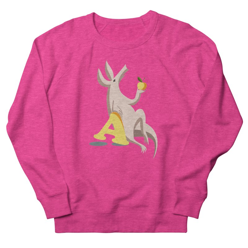 Aardvark and apple (To eat or not to eat) Women's French Terry Sweatshirt by kouzza's Artist Shop