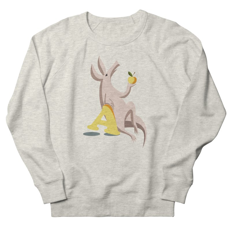 Aardvark and apple (To eat or not to eat) Women's Sweatshirt by kouzza's Artist Shop