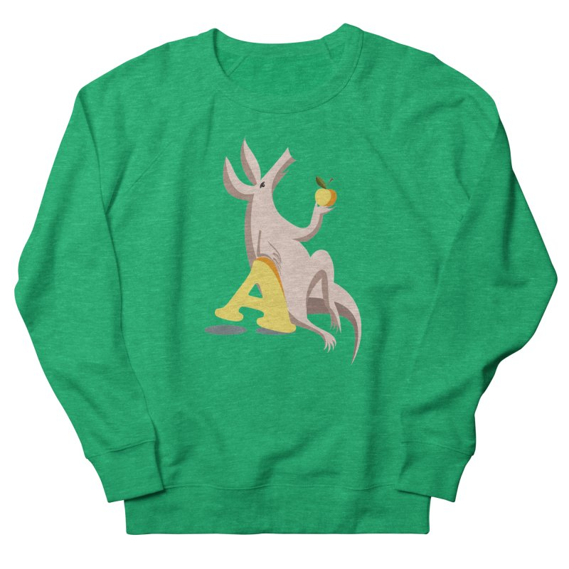 Aardvark and apple (To eat or not to eat) Men's French Terry Sweatshirt by kouzza's Artist Shop