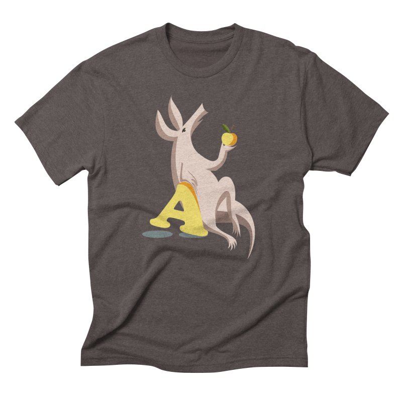 Aardvark and apple (To eat or not to eat) Men's Triblend T-Shirt by kouzza's Artist Shop