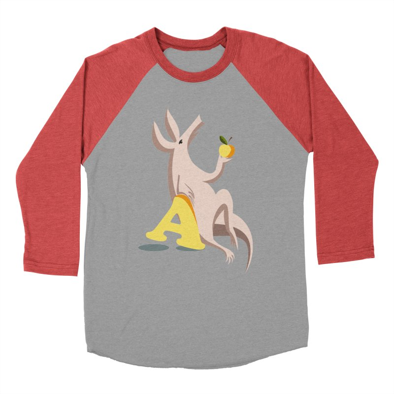 Aardvark and apple (To eat or not to eat) Men's Longsleeve T-Shirt by kouzza's Artist Shop