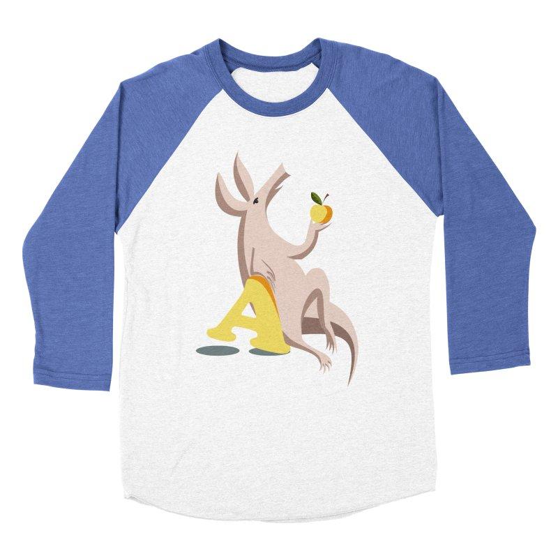 Aardvark and apple (To eat or not to eat) Men's Baseball Triblend Longsleeve T-Shirt by kouzza's Artist Shop