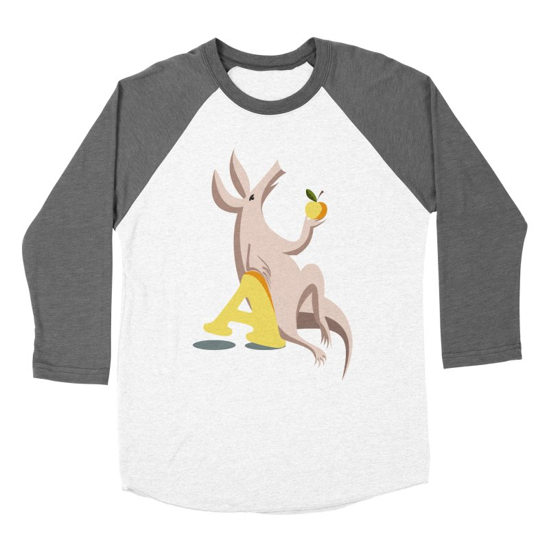 Aardvark and apple (To eat or not to eat) Men's Baseball Triblend Longsleeve T-Shirt by kouzza's Artist Shop