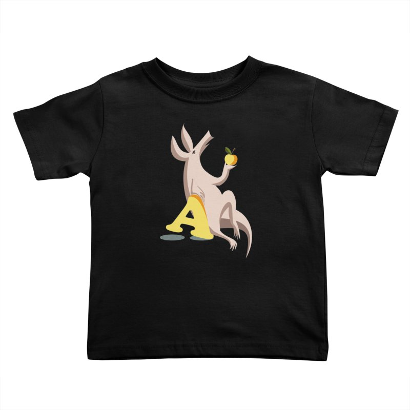 Aardvark and apple (To eat or not to eat) Kids Toddler T-Shirt by kouzza's Artist Shop