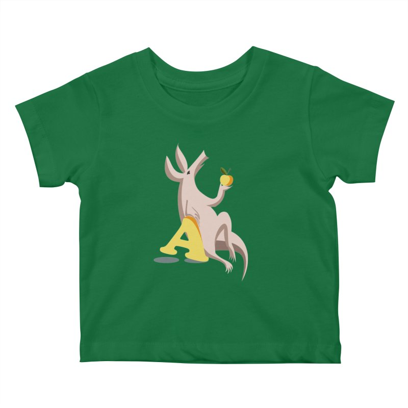 Aardvark and apple (To eat or not to eat) Kids Baby T-Shirt by kouzza's Artist Shop