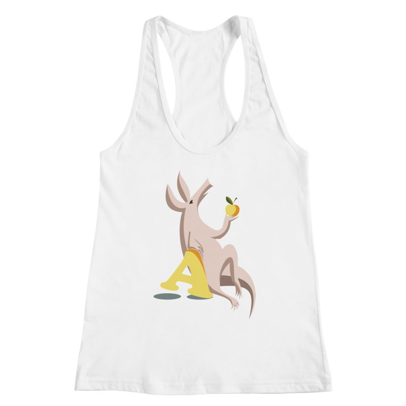 Aardvark and apple (To eat or not to eat) Women's Racerback Tank by kouzza's Artist Shop