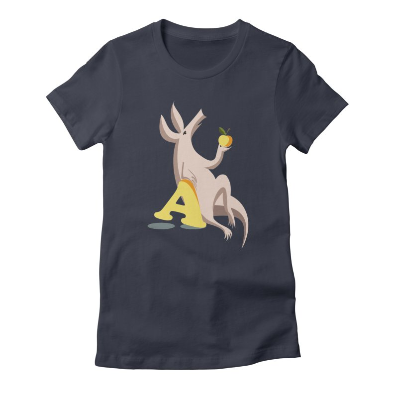 Aardvark and apple (To eat or not to eat) Women's T-Shirt by kouzza's Artist Shop