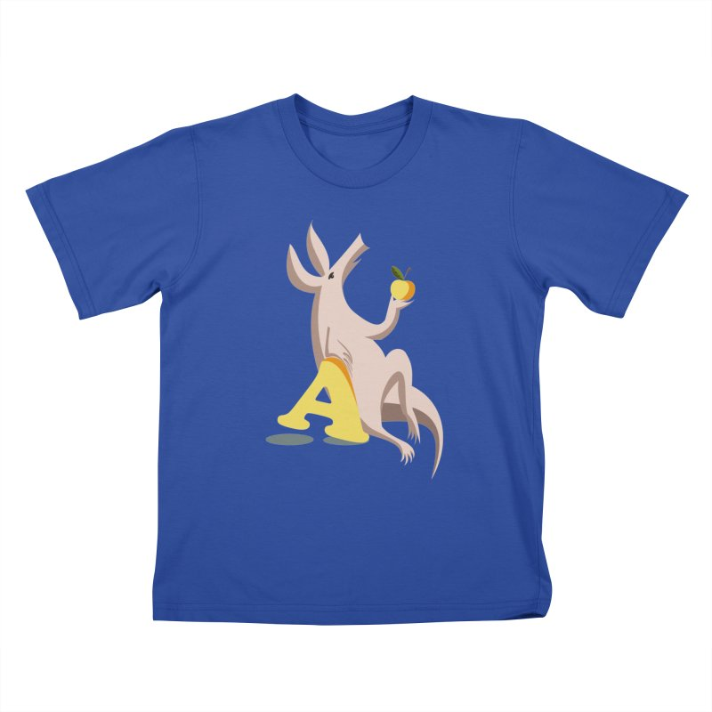 Aardvark and apple (To eat or not to eat) Kids T-Shirt by kouzza's Artist Shop