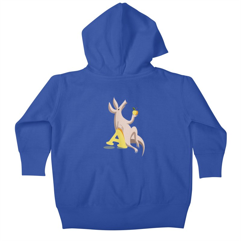 Aardvark and apple (To eat or not to eat) Kids Baby Zip-Up Hoody by kouzza's Artist Shop
