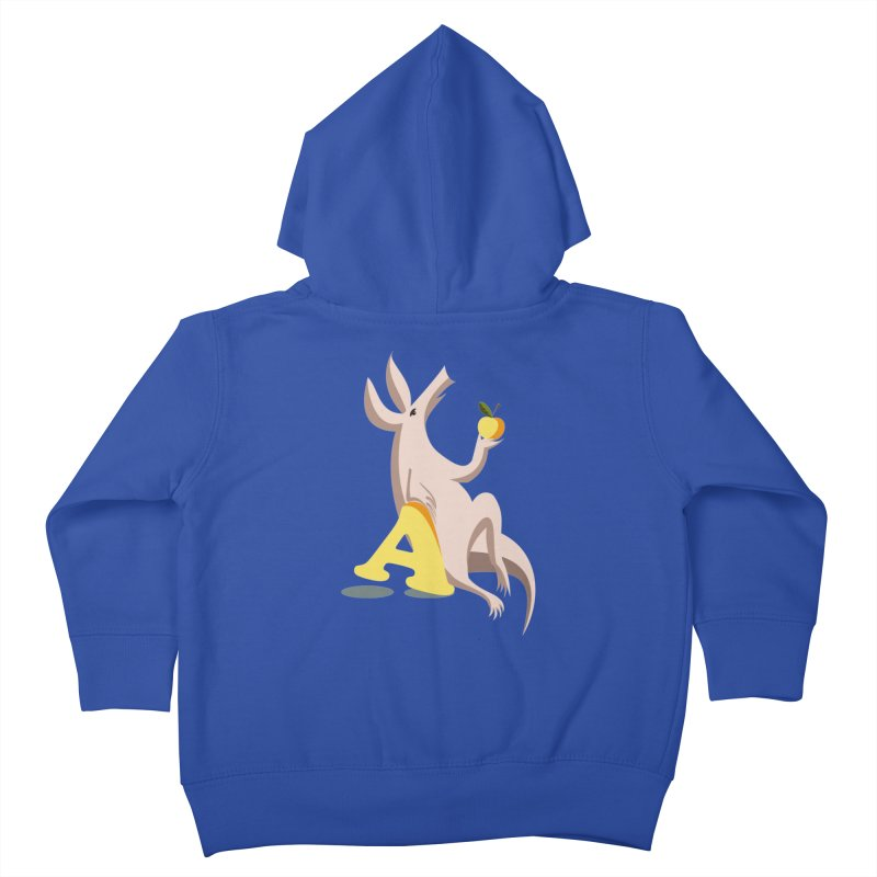 Aardvark and apple (To eat or not to eat) Kids Toddler Zip-Up Hoody by kouzza's Artist Shop