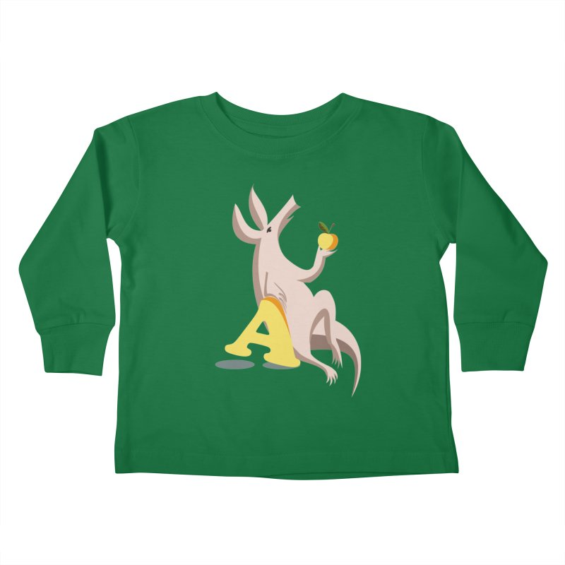 Aardvark and apple (To eat or not to eat) Kids Toddler Longsleeve T-Shirt by kouzza's Artist Shop