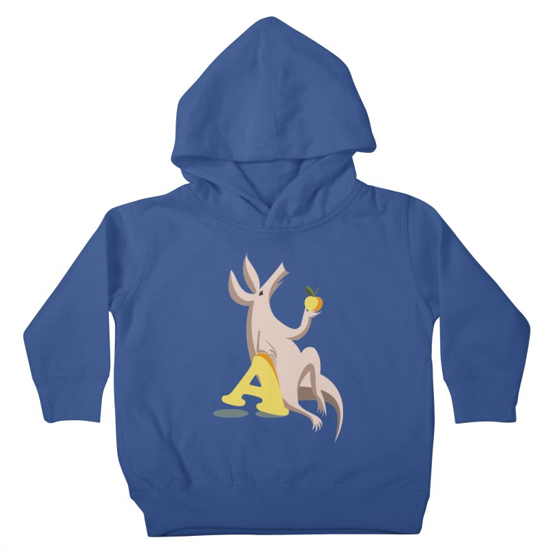 Aardvark and apple (To eat or not to eat) Kids Toddler Pullover Hoody by kouzza's Artist Shop