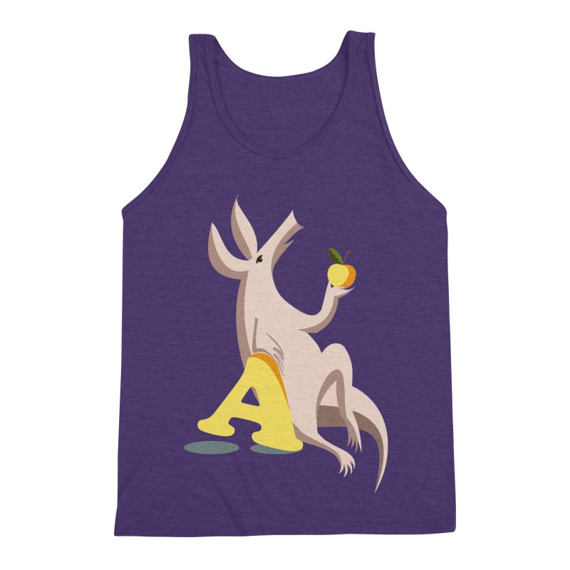 Aardvark and apple (To eat or not to eat) Men's Triblend Tank by kouzza's Artist Shop