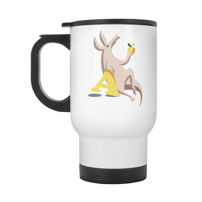 Aardvark and apple (To eat or not to eat) Accessories Travel Mug by kouzza's Artist Shop