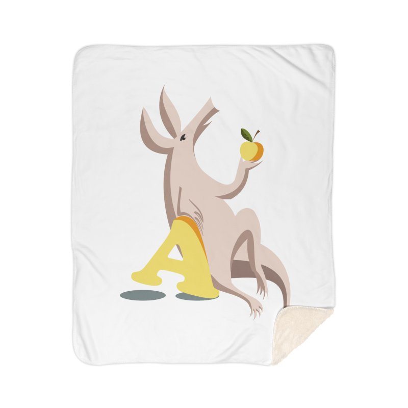 Aardvark and apple (To eat or not to eat) Home Blanket by kouzza's Artist Shop
