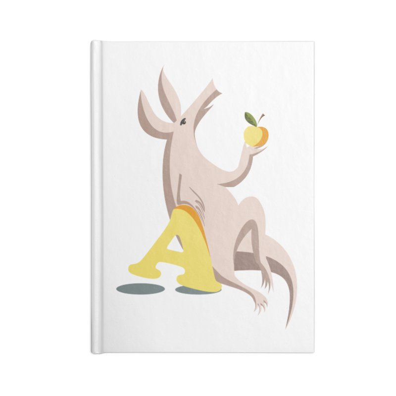 Aardvark and apple (To eat or not to eat) Accessories Blank Journal Notebook by kouzza's Artist Shop