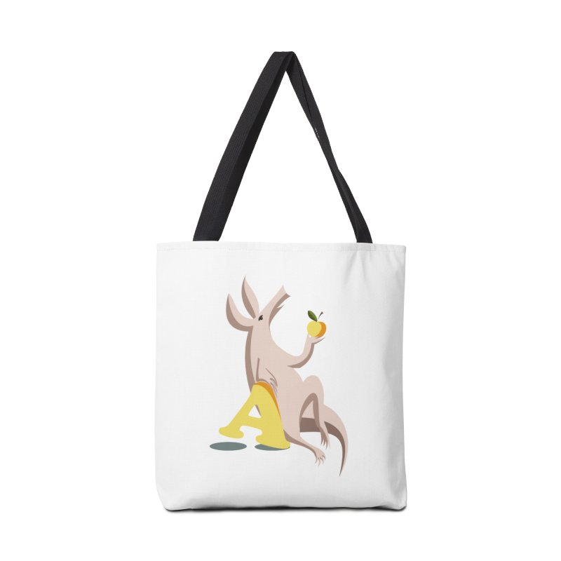 Aardvark and apple (To eat or not to eat) Accessories Tote Bag Bag by kouzza's Artist Shop