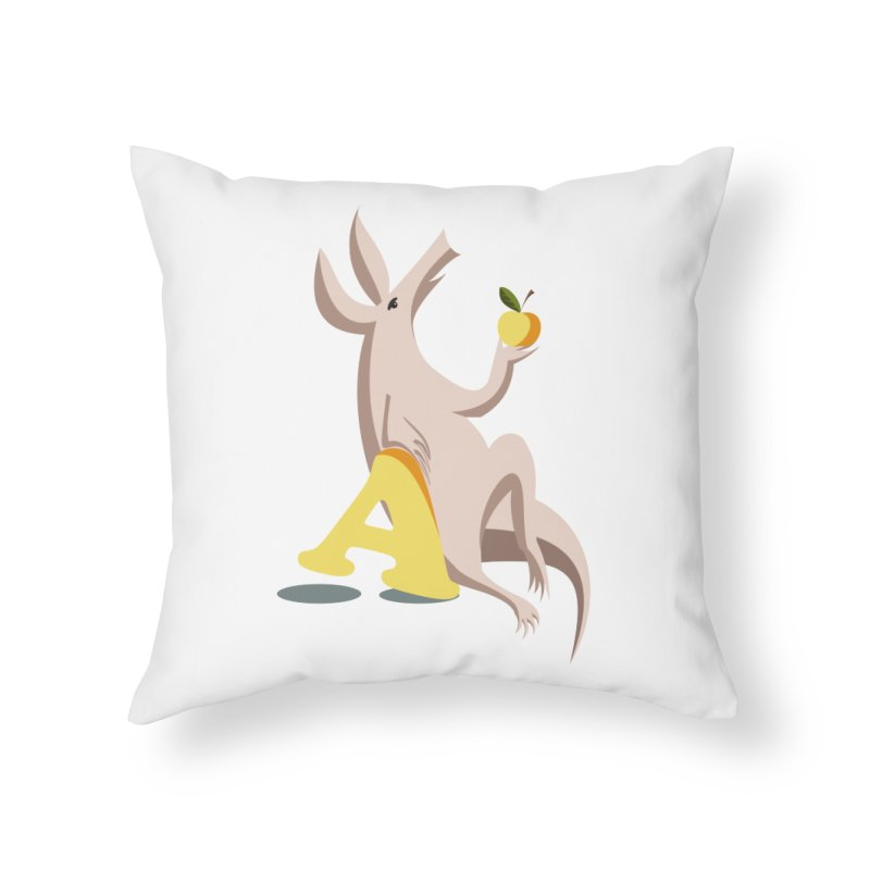Aardvark and apple (To eat or not to eat) Home Throw Pillow by kouzza's Artist Shop