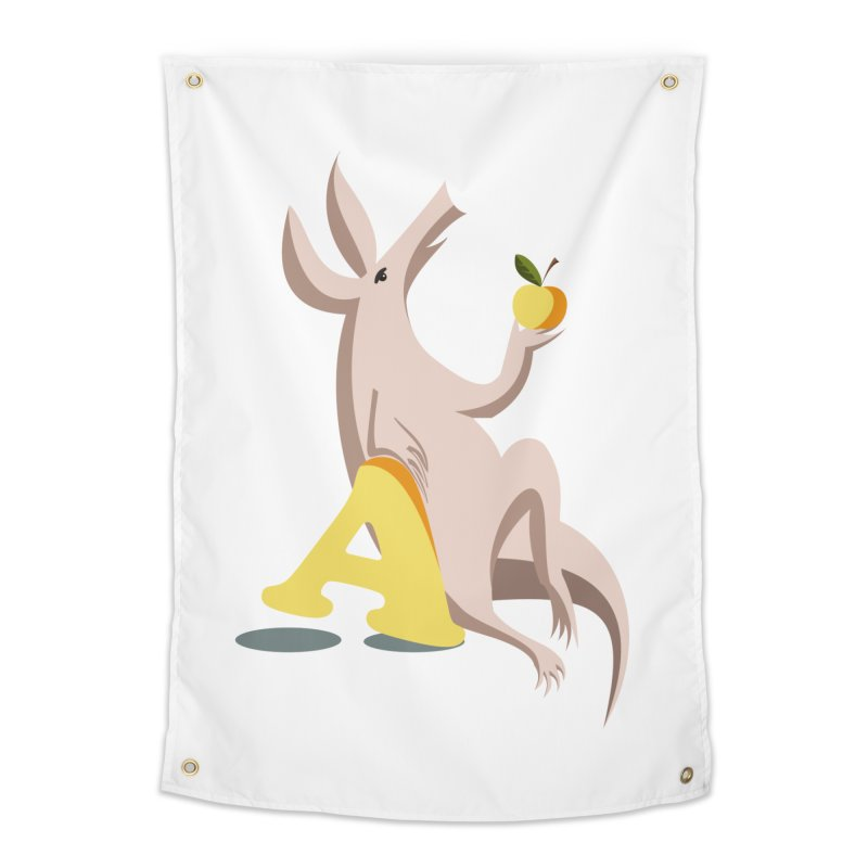 Aardvark and apple (To eat or not to eat) Home Tapestry by kouzza's Artist Shop