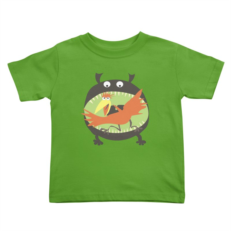 Bird eating monster Kids Toddler T-Shirt by kouzza's Artist Shop
