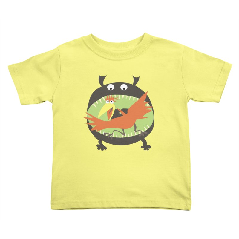 Bird eating monster Kids Toddler T-Shirt by kouzza's Artist Shop