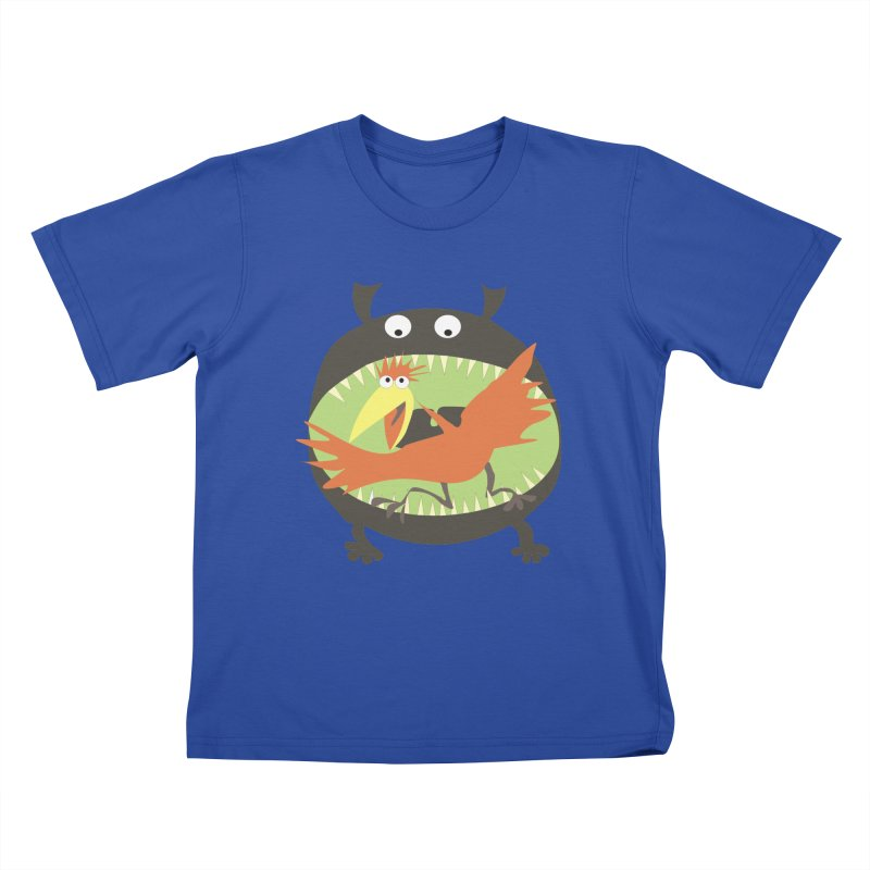 Bird eating monster Kids T-Shirt by kouzza's Artist Shop