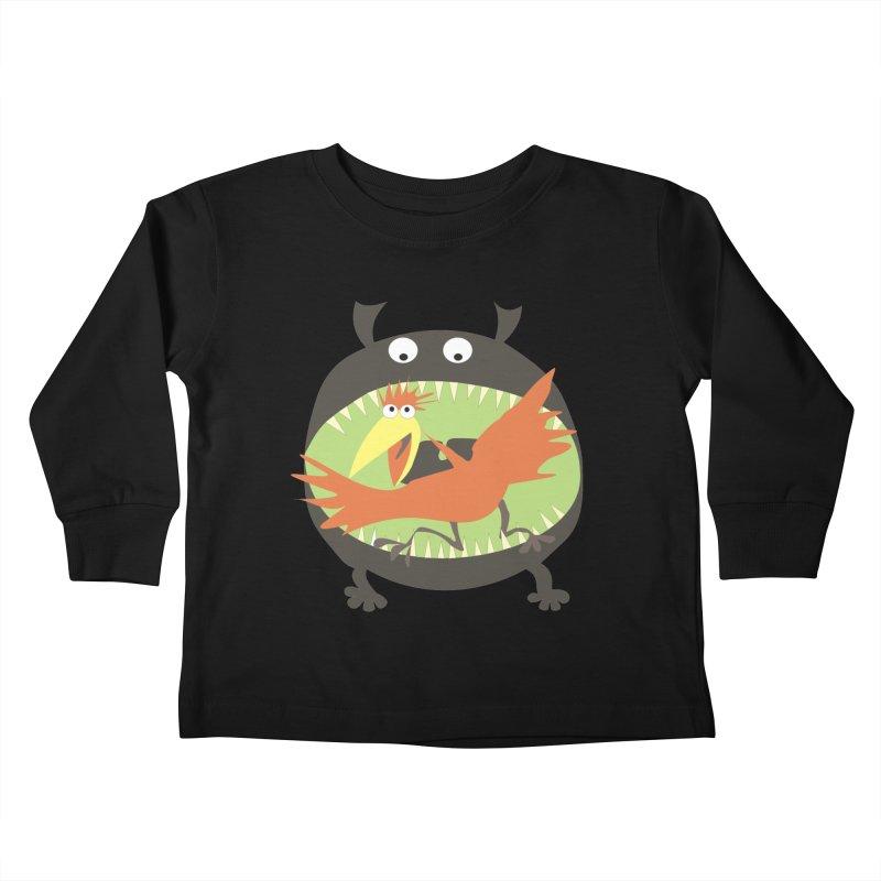 Bird eating monster Kids Toddler Longsleeve T-Shirt by kouzza's Artist Shop
