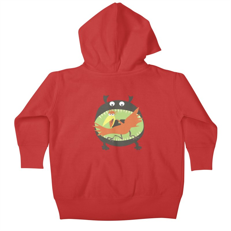 Bird eating monster Kids Baby Zip-Up Hoody by kouzza's Artist Shop