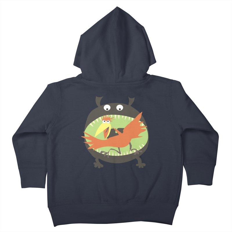 Bird eating monster Kids Toddler Zip-Up Hoody by kouzza's Artist Shop