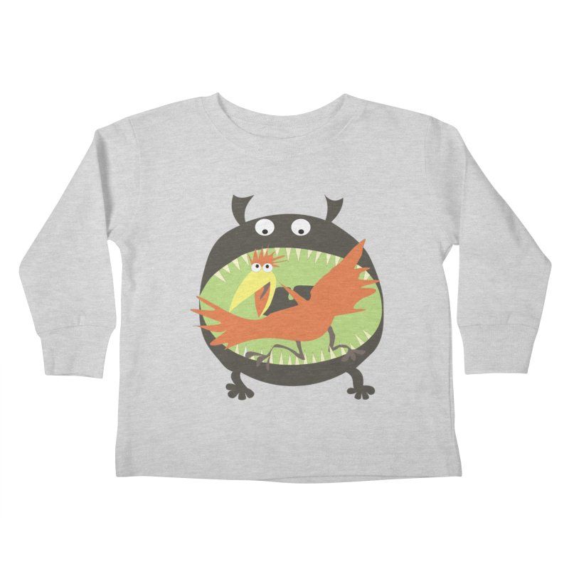 Bird eating monster Kids Toddler Longsleeve T-Shirt by kouzza's Artist Shop