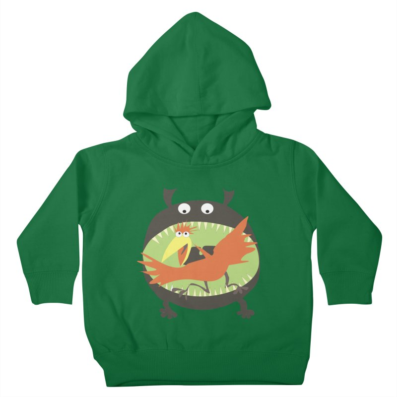 Bird eating monster Kids Toddler Pullover Hoody by kouzza's Artist Shop