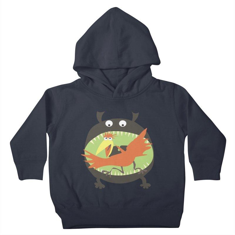 Bird eating monster Kids Toddler Pullover Hoody by kouzza's Artist Shop
