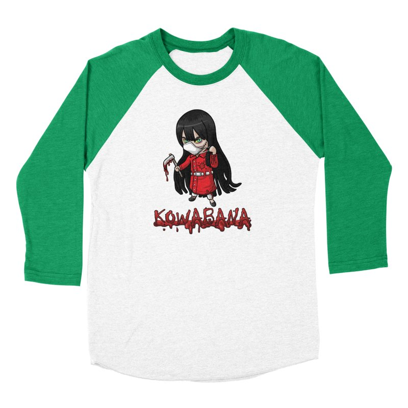 Kuchisake-onna Men's Baseball Triblend Longsleeve T-Shirt by Kowabana's Artist Shop