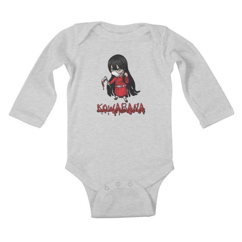 Kuchisake-onna Kids Baby Longsleeve Bodysuit by Kowabana's Artist Shop