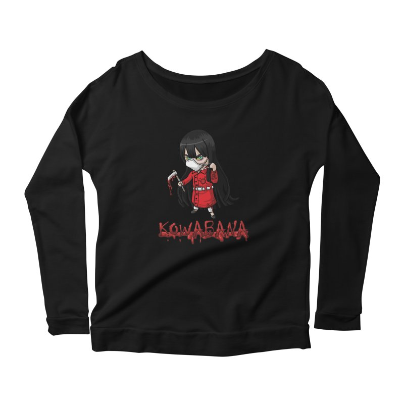 Kuchisake-onna Women's Scoop Neck Longsleeve T-Shirt by Kowabana's Artist Shop
