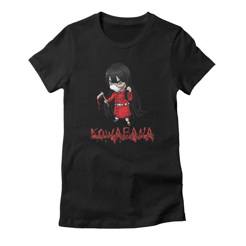 Kuchisake-onna Women's Fitted T-Shirt by Kowabana's Artist Shop