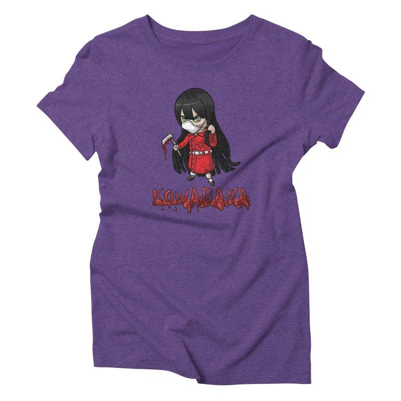 Kuchisake-onna Women's Triblend T-Shirt by Kowabana's Artist Shop