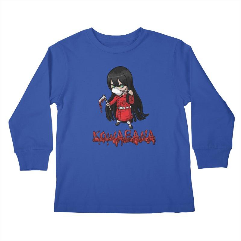 Kuchisake-onna Kids Longsleeve T-Shirt by Kowabana's Artist Shop
