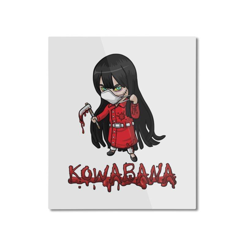 Kuchisake-onna Home Mounted Aluminum Print by Kowabana's Artist Shop