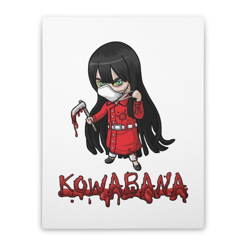 Kuchisake-onna Home Stretched Canvas by Kowabana's Artist Shop