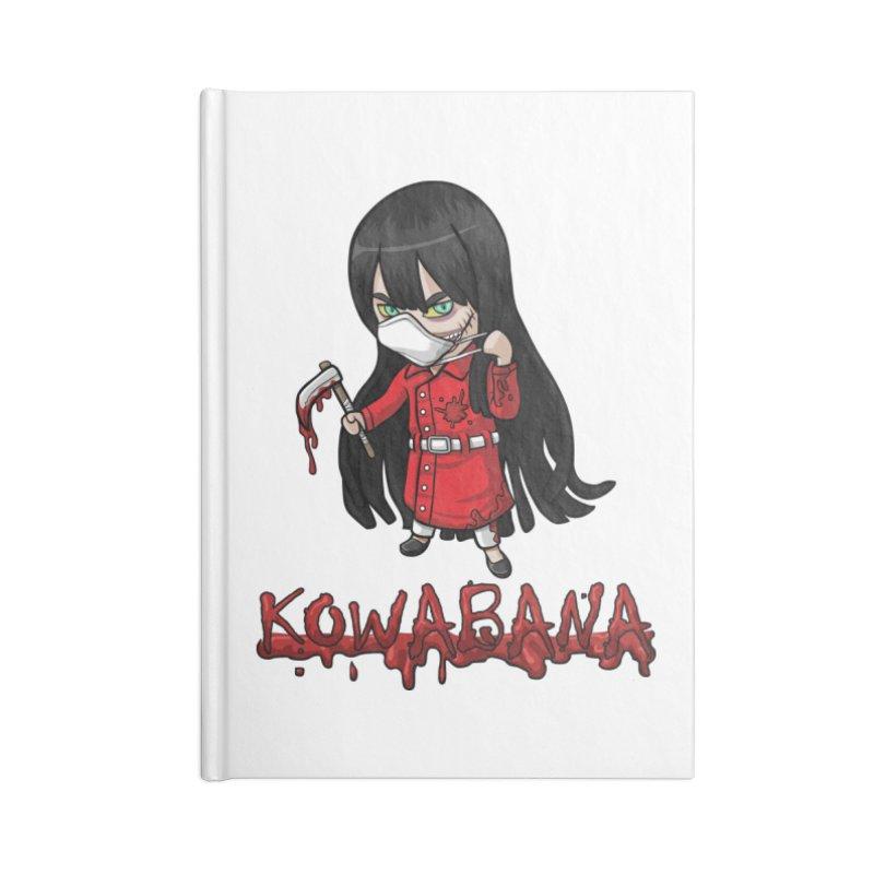 Kuchisake-onna Accessories Lined Journal Notebook by Kowabana's Artist Shop