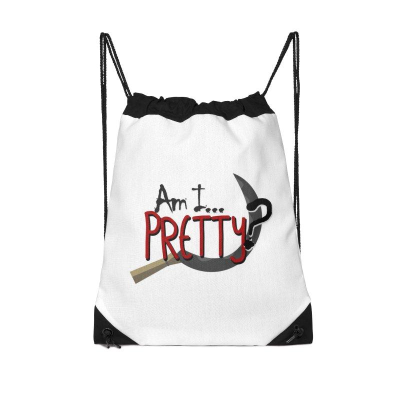 Am I pretty? Accessories Drawstring Bag Bag by Kowabana's Artist Shop