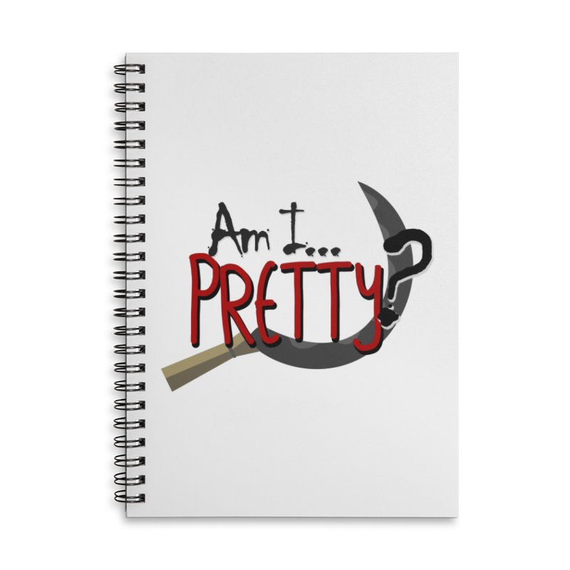 Am I pretty? Accessories Lined Spiral Notebook by Kowabana's Artist Shop