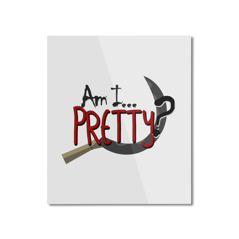 Am I pretty? Home Mounted Aluminum Print by Kowabana's Artist Shop