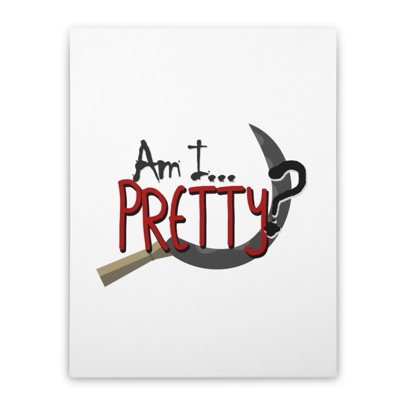 Am I pretty? Home Stretched Canvas by Kowabana's Artist Shop