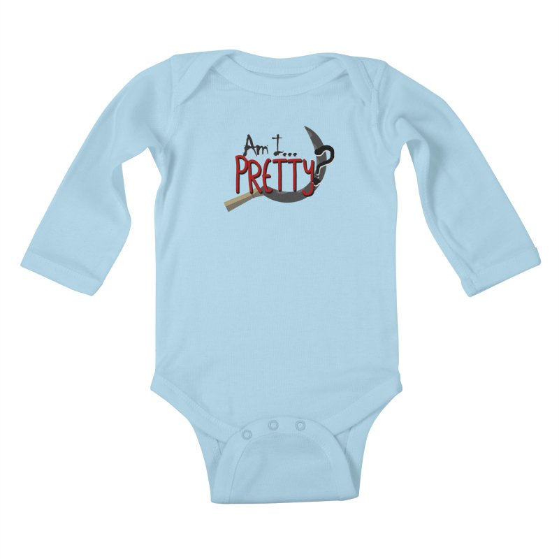 Am I pretty? Kids Baby Longsleeve Bodysuit by Kowabana's Artist Shop