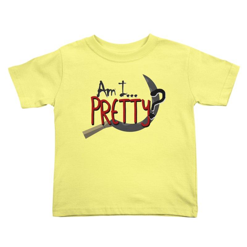 Am I pretty? Kids Toddler T-Shirt by Kowabana's Artist Shop