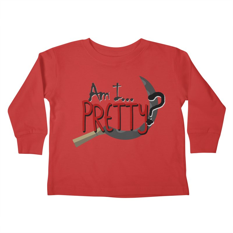 Am I pretty? Kids Toddler Longsleeve T-Shirt by Kowabana's Artist Shop